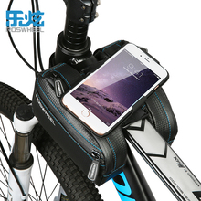 Roswheel 4.7-6.7″ Phone Bicycle Bag Front Tube Bike Bag Rainproof Storage Bag For Cycling MTB Road Bike Pouch Saddle Bags