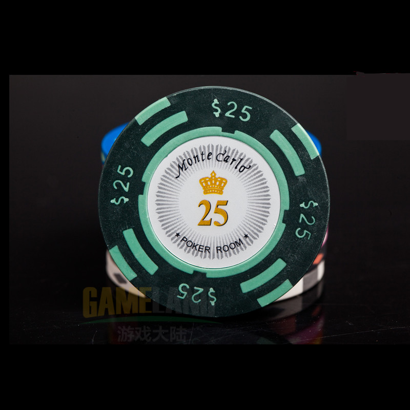 Poker chips Casino chips Iron+Clay+ABS Crowne Poker Chips Professional Casino Chip 10pcs/Set 14g Texas Holdem Poker Wholesale