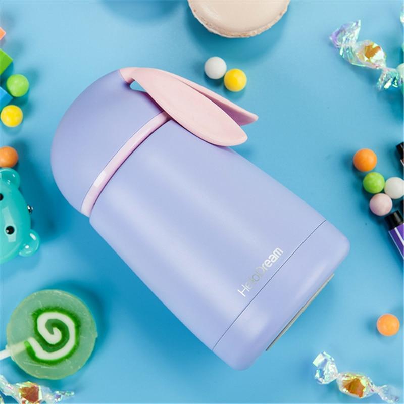 Cartoon Rabbit Drinkware Kids Water Bottle Stainless Steel Vacuum Flask Tumbler Leak-proof Tumbler Thermo Bottle