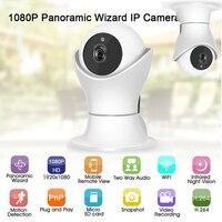 1080P Panoramic H.264 Wifi 2.0 Megapixel Wireless Night Vision CCTV Security Motion Detection Intercom Baby Monitor IP Camera