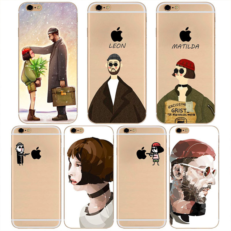 The Professional Cartoon Leon Matilda Killers Crystal Clear TPU Back Case for iPhone 5/5S/SE 6/6S Plus Covers Bags Accessories