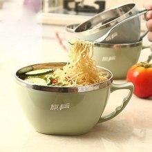 1 шт анти-горячий 304 нержавеющая сталь суп мгновенная миска для лапши с крышкой ручка супница посуда столовая посуда