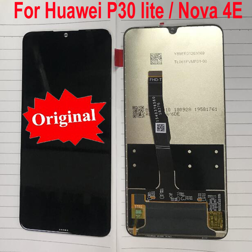 Original Best LCD Screen Display Touch Panel Digitizer Assembly Glass Sensor For Huawei P30 Lite P30Lite