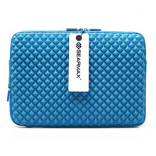Waterproof diamond Laptop computer Sleeve 14 inch Laptop computer Bag Case (Blue)