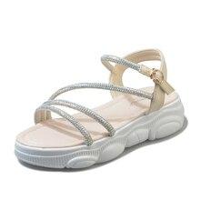 Plus tamaño35-40mujeres sandalias de mujer zapatos verano cuña Sandalias cómodas señoras resbalón en