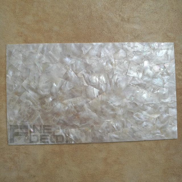 Aa Grade White Mother Of Pearl Laminate Sheet Mosaic