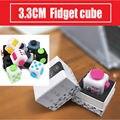 3.3 CM Fidget Brinquedos do Cubo EUA Original Qualidade Dados Alivia A Ansiedade E Estresse Foco Ataques Anti-irritabilidade Cubo de rubik