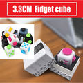 3.3 CM Fidget Cubo Juguetes EE. UU. Original Calidad Dados Foco de Estrés Alivia La Ansiedad Ataques Anti-irritabilidad Cubo de Rubik