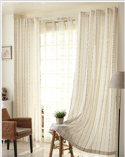 Contemporaneo e contratto cortina di stoffa finito tenda for Studio in camera da letto