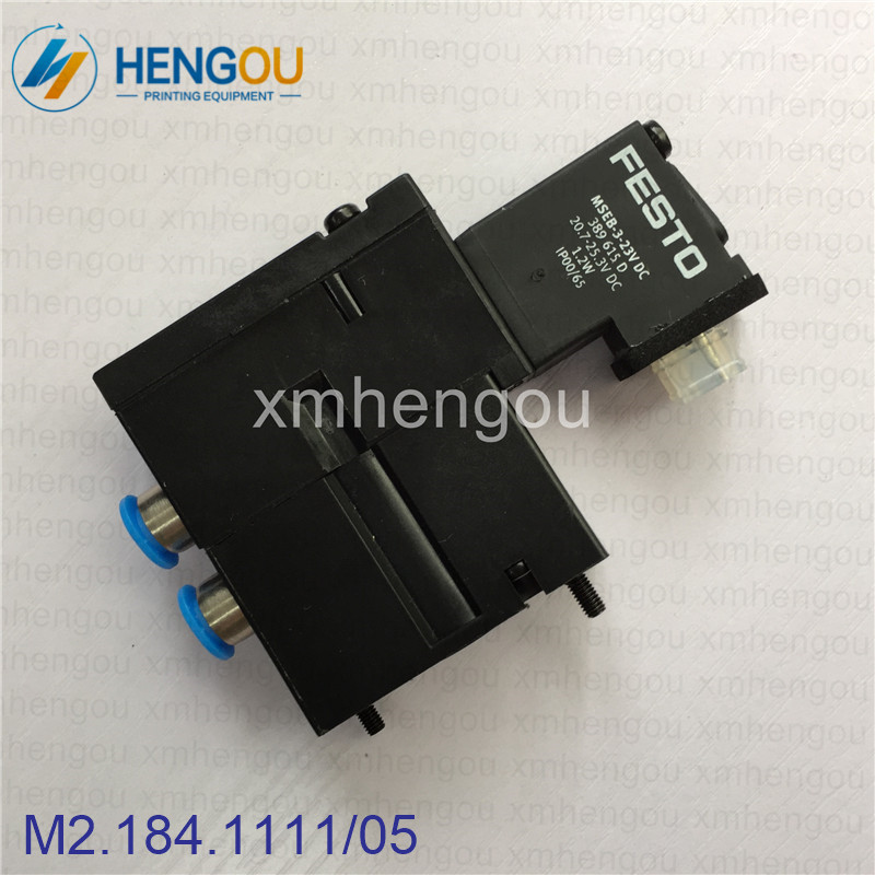 1 Piece China post free ship Heidelberg solenoid valve FESTO MEBH-4/2-QS-4-SA M2.184.1111/05 for SM102 CD102 SM52 PM52 machine le chic часы le chic cl1727s коллекция les sentiments