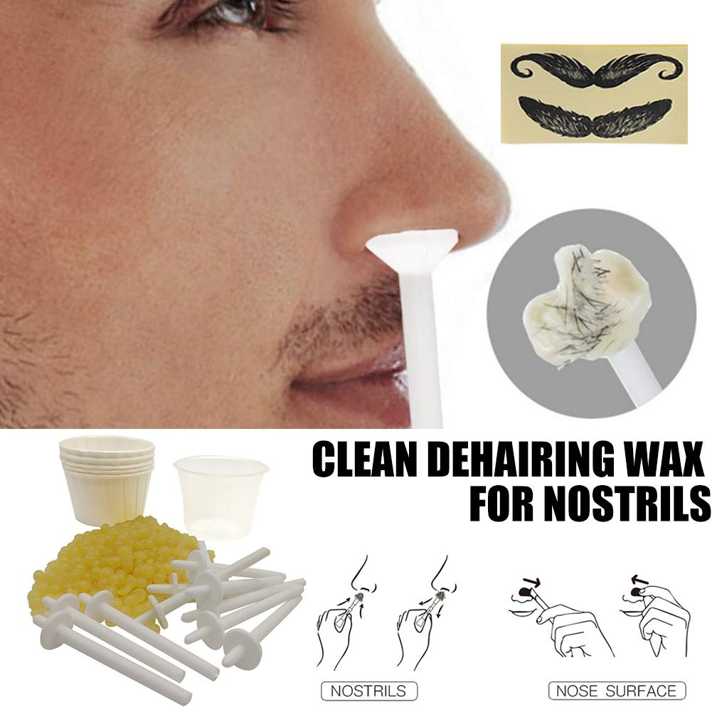 Hair Removal Wax Unisex Nose Hair Remover Kit 50g Hair Removal Wax Nasal Cavity Cleaning Accessories Nose Hair Eyebrow Wax Stick