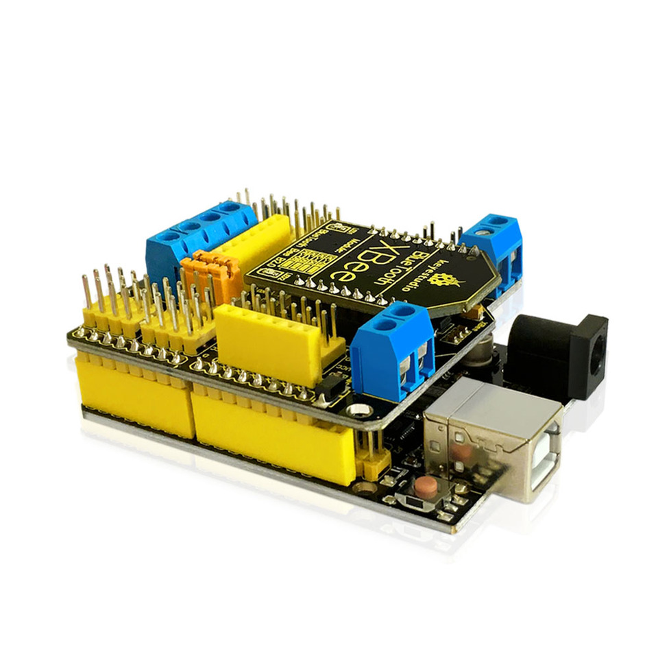 KEYESTUDIO RS485 Xbee Sensor Shield Expansion Board V5 with Bluetooth Interface for Arduino Microcontroller Project for UNO Electronic Accessories