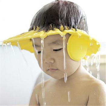 Bambini Della Protezione Impermeabile di Sicurezza Del Bambino Cuffia per la doccia Da Bagno Per Bambini Visiera Del Cappello Del Bambino Regolabile Cuffia per la doccia Proteggere Gli Occhi Dei Capelli 1