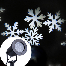 2016 Christmas Laser Projector Waterproof White Snowflake Projector Outdoor Romantic Garden Lawn Lights for Home Decoration