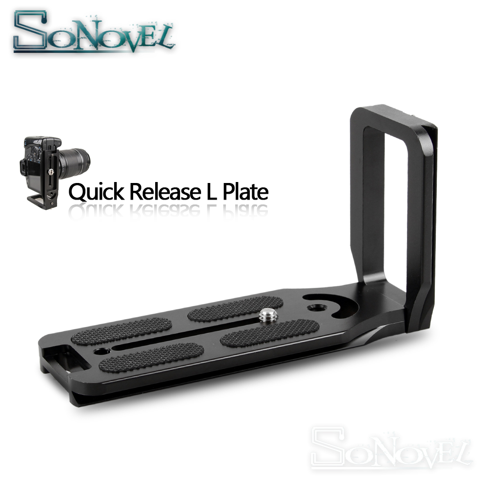 Extended version 130mm Quick Release L Plate Bracket <font><b>Grip</b></font> For Canon EOS 1500D 850D 800D 760D 750D 200D <font><b>77D</b></font> 80D 60D 7D 6D 5D4 5Ds image