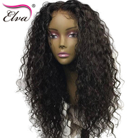 Elva Hair Curly Full Lace Human Hair Wigs Brazilian Remy Hair Lace Wigs With Baby Hair