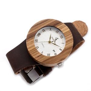 Image 2 - Original Brand Watches BOBO BIRD Men Luxury Watch Men Zebra Wood Wristwatches as Gifts relogio masculino C C01