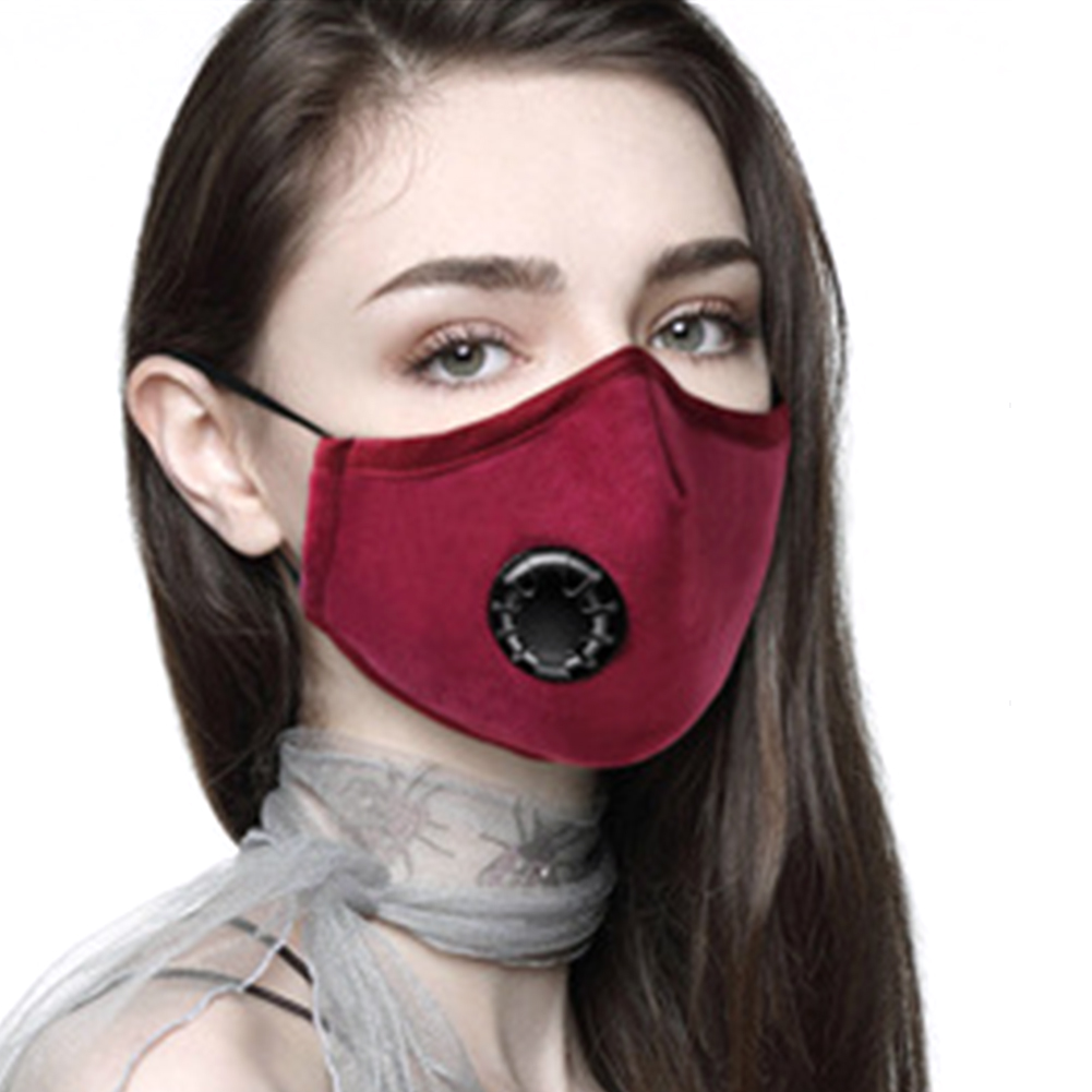 Image 2 - Breathing Dust Mask for Men and Women Anti fog Dust PM 2.5 Pollen Breathable Valve Mask Reusable Activated Carbon Air Filter-in Particle Respirators from Security & Protection