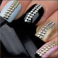 100pcs/bag 2MM 3MM 5MM 6MM 3D Design Nail Art Rhinestone Decoration Stickers Metallic Studs Gold & Silver Stud Sale 0417