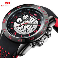 KAT WACH Men's Boy LCD Digital Stopwatch Luxury Brand LED Military Automatic Watches Dial Electronic Calendar Watch KT726