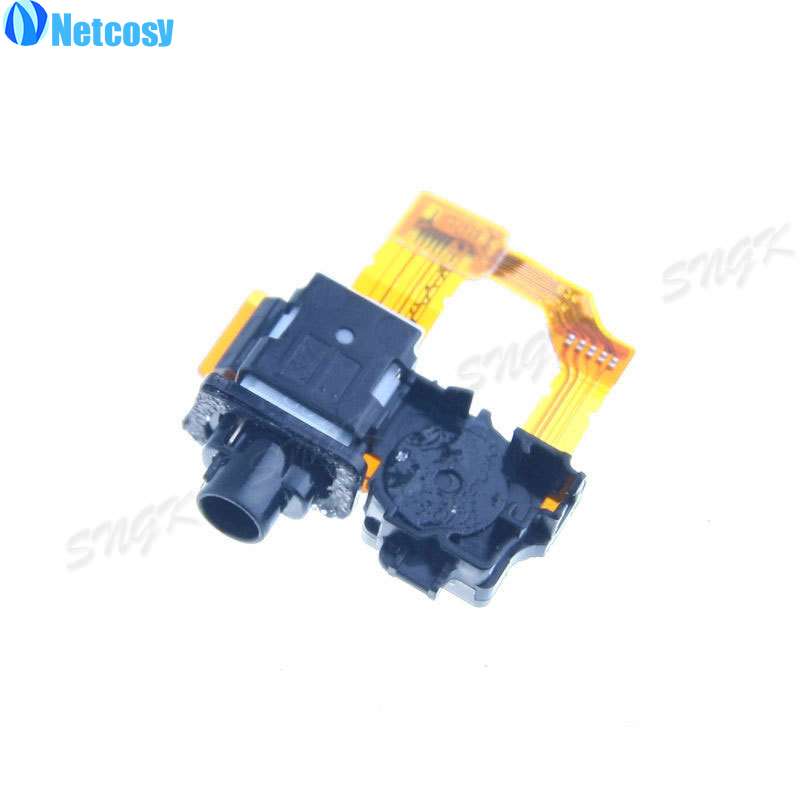 Netcosy For Sony Xperia Z1 L39h C6902 C6903 C6906 Headphone Jack Mic Connector Flex Cable Ribbon Replacement Part