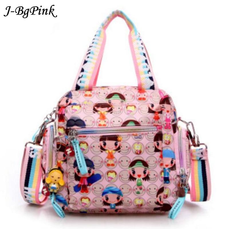 Új Harajuku Doll vízálló nylon kézitáska női táska egy vállát kereszt-zsák táskák Kézitáska anya