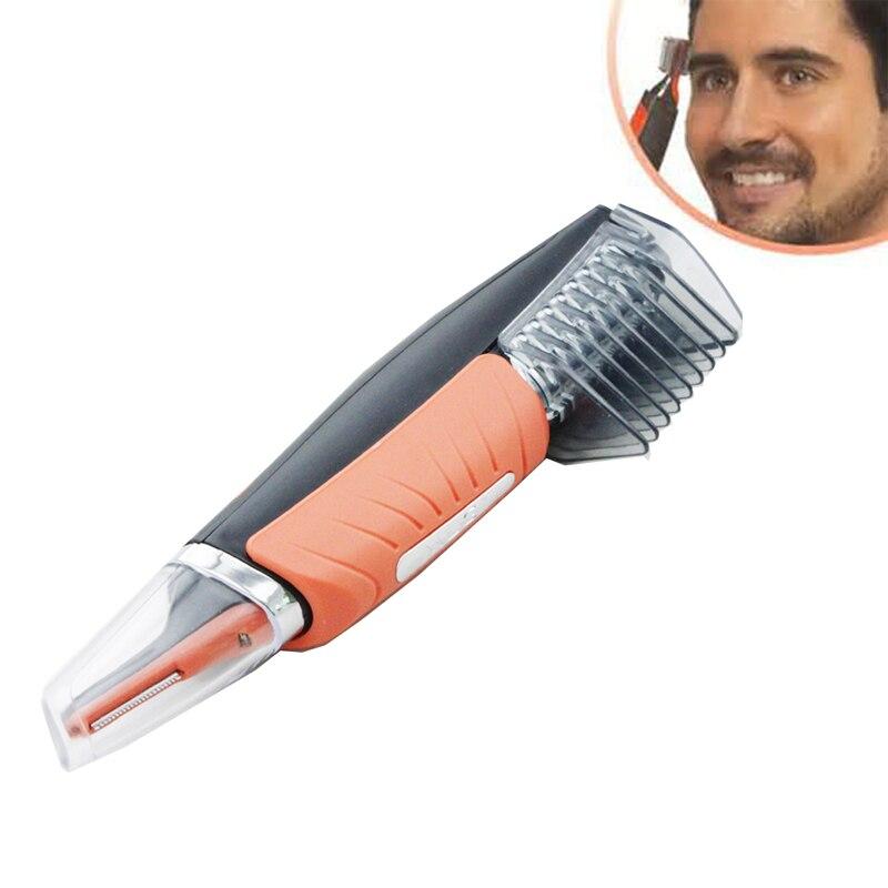 Trimmer doppio per uomo Clipper Micro Barbiere personale Trimmer per capelli Rasoio multifunzione Grooming Remover Controllo antiscivolo LED Light (8)