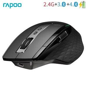 Image 1 - Rapoo MT750S オリジナルワイヤレスマウス充電式マルチモード Bluetooth ビジネスオフィス