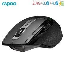 Rapoo MT750S Original Drahtlose Maus Wiederaufladbare Multi Modus Bluetooth Maus für Business Büro