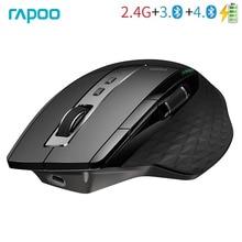 Rapoo MT750S Originale Mouse Senza Fili Ricaricabile Multi Mode Bluetooth Mouse per Ufficio Affari
