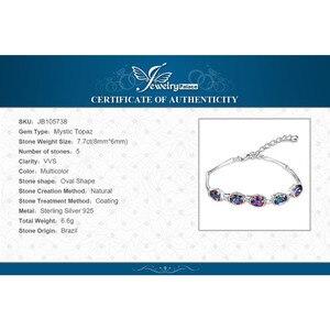 Image 5 - JewelryPalace Natural Mystic Topaz 925เงินสเตอร์ลิงสร้อยข้อมือเทนนิสอัญมณีสร้อยข้อมือผู้หญิงเงิน925ทำ