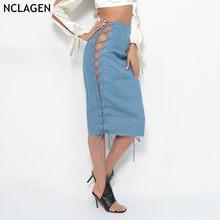 ed886cbda Promoción de Sexy Denim Bandage Skirt - Compra Sexy Denim Bandage ...