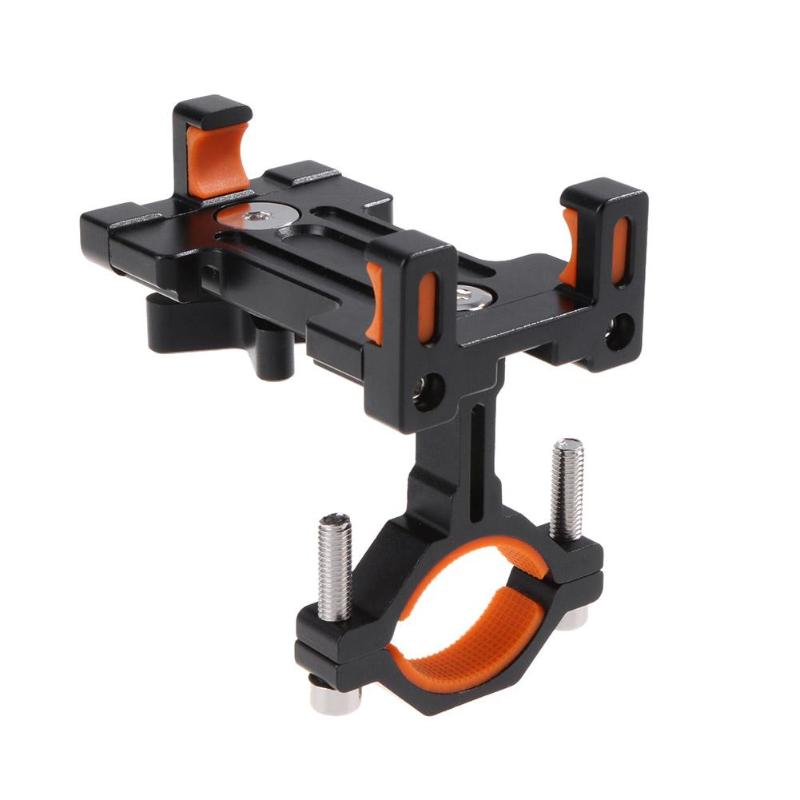 NEW Aluminum Alloy Mount Bracket Handlebar Clip Stand Bicycle Adjustable Phone Holder Anti-Slip Bike for Motorcycle Bicycle MTB ...