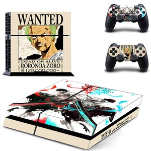 Image 4 - Anime One Piece Luffy PS4 Skin Sticker Decal Vinyl for Sony Playstation 4 Console and 2 Controllers PS4 Skin Sticker