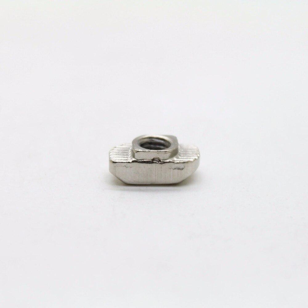 Высокое качество 50 шт. Т Гайка Блок M4 для 20 серии алюминиевый профиль слот 6 мм cpc113