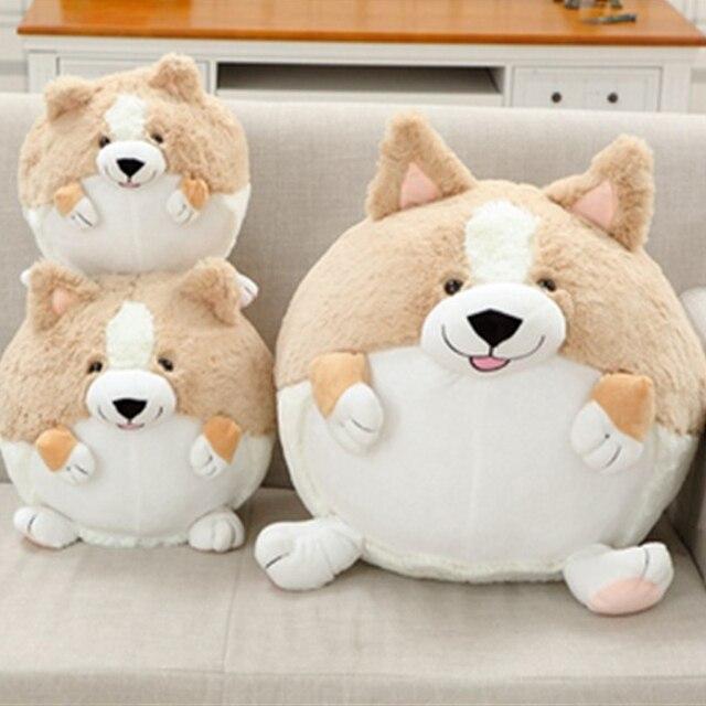 Fancytrader Cute Corgi Dog Plush Toy Stuffed Soft  Round Body Puppy Dog Doll Pillow 50cm Best Kids Toys