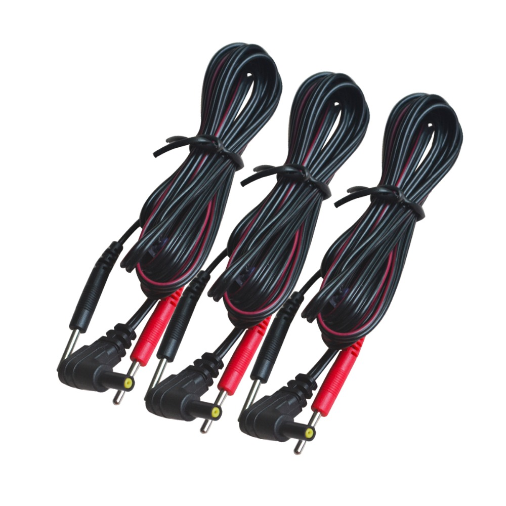 5 sztuk/paczka wymiana elektrody przewody przyłączeniowe podłącz kable Pin 2mm dla TENS 7000 i TENS elektroniczne urządzenia do masażu terapii