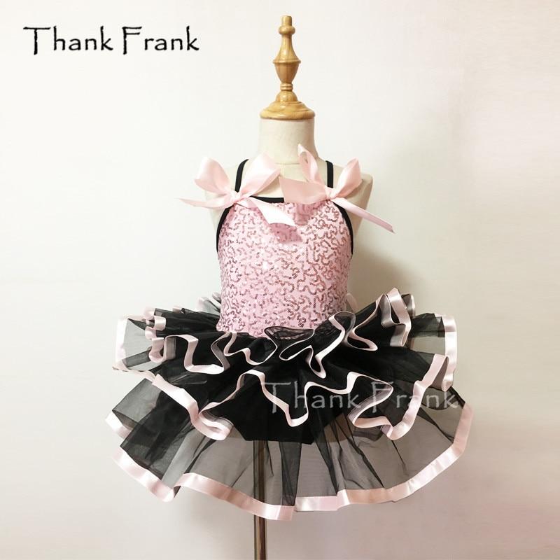 Thank Frank Sequin Camisole Ballet Tutu Dress Girls Adult Bow Dance Costume C24