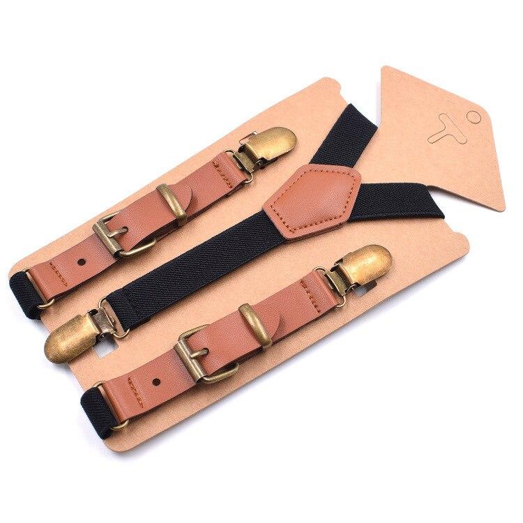 Fashion Elastic Suspenders Solid Baby Boy Suspenders For Children Retro Braces Adjustable Y-shape Back Kids Suspenders Tirantes