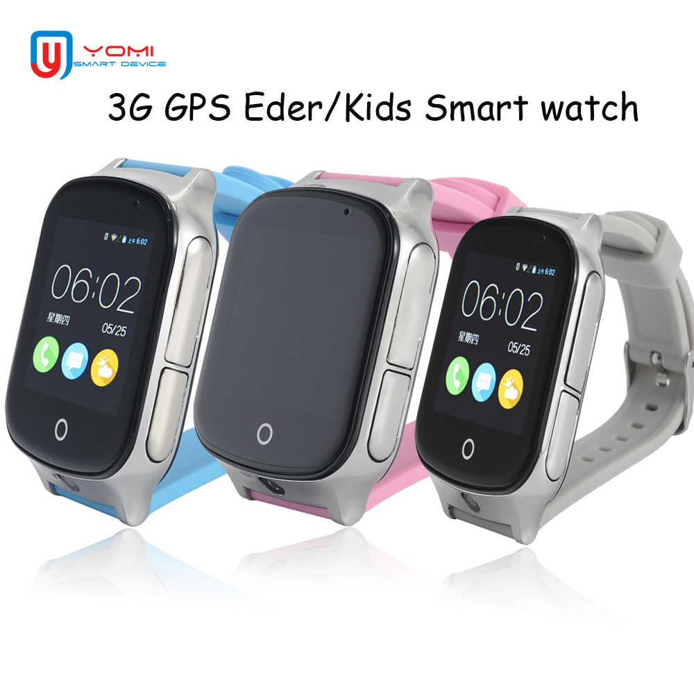 Kids GPS Watch A19 3G Smart Watch GPS WiFi Locating Remote Monitor Camera Watch GPS Tracker Android Smartwatch for Baby Elder