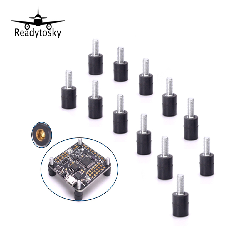 12pcs M3*7+4.5 M3 Flight Controller Anti-Vibration Fixed Screws Mounting Hardware Spacer Standoff For Naze32 CC3D F3 QAV250 original naza gps for naza m v2 flight controller with antenna stand holder free shipping