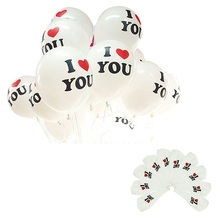 Durable 10Pcs/Lot 12 inch I LOVE YOU Pearl Latex Balloons Globos ballons For Christmas Wedding Decorations Fast Shipping