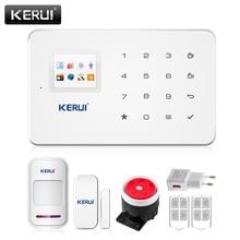 Fabryka g18 kerui app android iso bezprzewodowy alarm gsm domu System Zestaw PIR SIM Inteligentny System Alarmowy w Domu Włamywacza podczerwieni