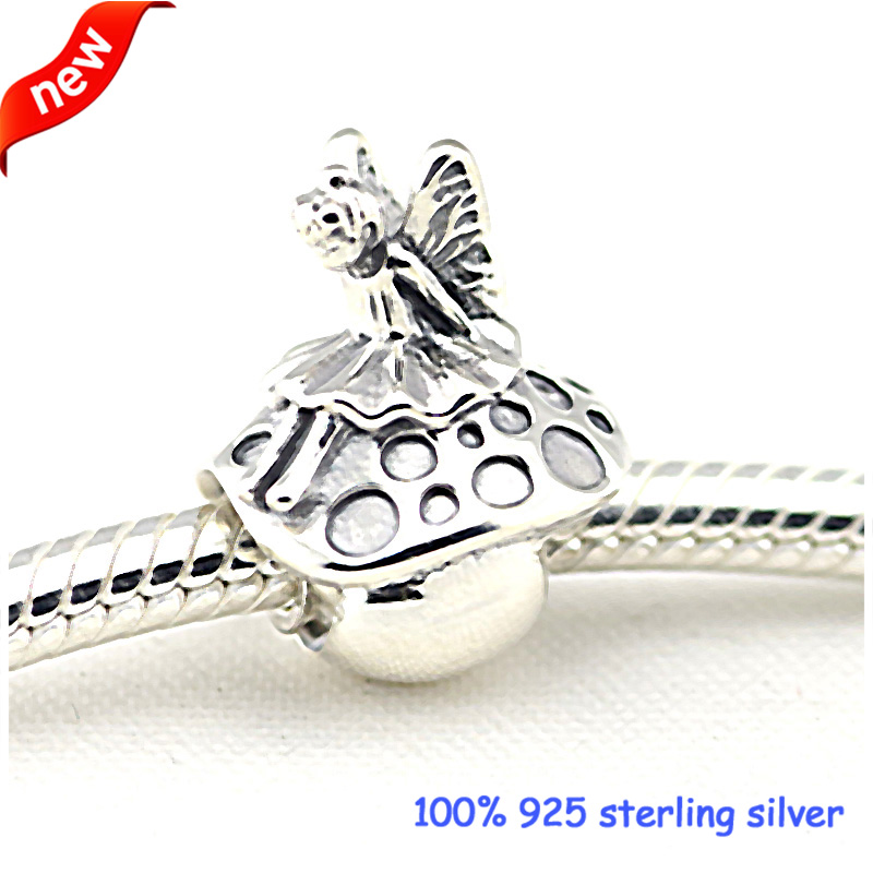 Fits Pandora Bracelets Forest Fairy Mushroom Silver Beads Original 100% 925 Sterling Silver Charms DIY Jewelry Wholesale 09270