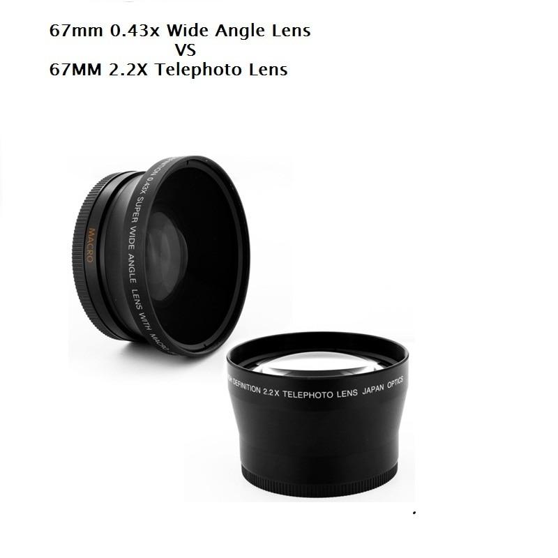 67MM 0.43X široki Angel & makro objektiv + 2.2X telefoto objektiv za - Kamera i foto - Foto 1