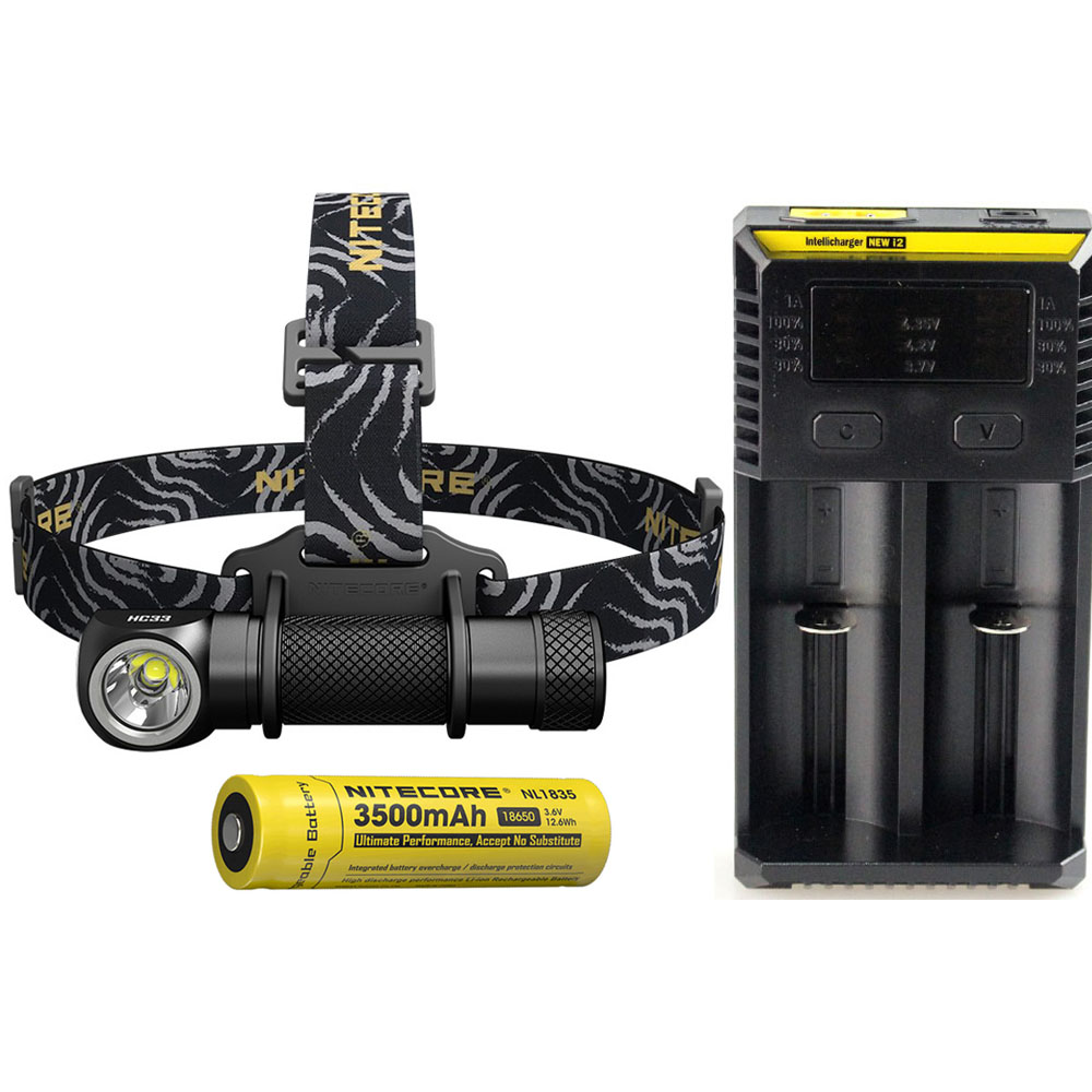Nitecore Hc33 Headlight Cree Xhp35 Hd Max 1800 Lumen Headlamp Beam 187 Meter 8 Working Mode Outdoor Head Light Bicycle Head Lamp To Win A High Admiration Headlamps