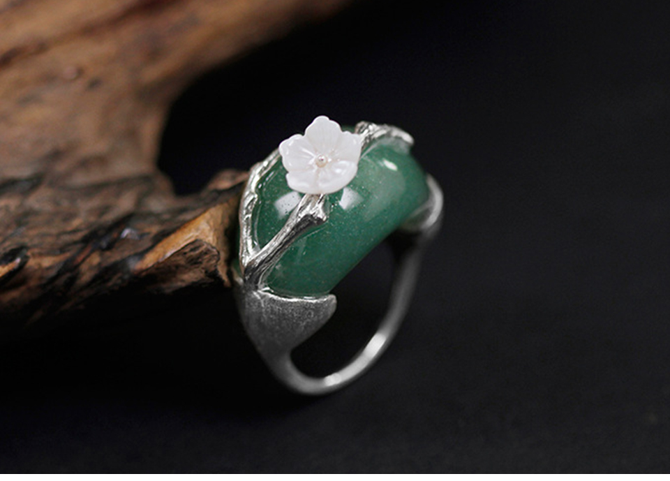 Silver with Green Stone-4