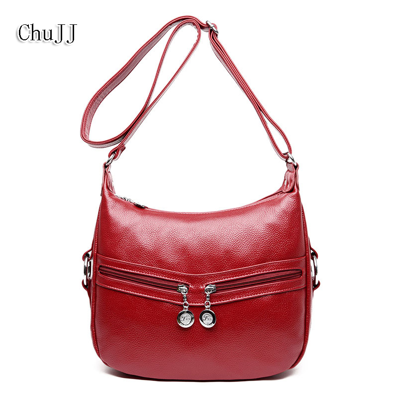 High Quality Women's Genuine Leather Handbags Shoulder CrossBody Bags Tote Bag Fashion Messenger Bag Big Size Hobos Women Bags fashion women bags 100% first layer of cowhide genuine leather women bag messenger crossbody shoulder handbags tote high quality