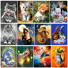 5d diy diamond painting Cross Stitch kits,full square Diamond Embroidery cute cat ,Diamond Mosaic,Y1483