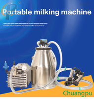 Stable Vacuum Pump Cow Milking Machine for Sale